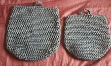 Ikea NORDRANA Hanging Basket Woven Bags Set of 2 Grey Storage Organisers