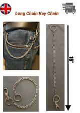 Extra Long Strong Keyring Metal Key Wallet Belt Ring Clip Chain Hipster Keychain