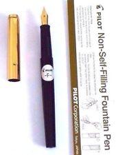 Pilot 'Tank' Non-Self-Filling Fountain Pen - FINE Nib-with eye dropper - BLACK..