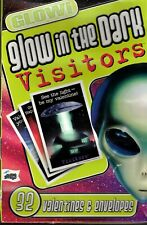 Vintage Glow in Dark Visitors Valentine's 32 Count Cards - New In Box