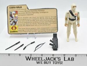 Storm Shadow 100% Complete 1984 GI Joe ARAH Hasbro Vintage Action Figure