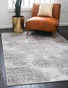 Unique Loom Sofia Collection Traditional Vintage Area Rug, 8' x 10', Light Gray/