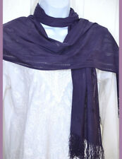 Net Stretchable soft touch Purple Scarf, Stole, Wrap