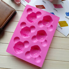 Mickey Mouse Lovely DIY Ice Cookie Cube Tray Cake Molds Silicone Baking Tool