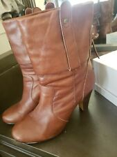 Dolce Vita Cognac Leather Booties Size 8.5