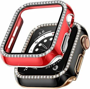 Diamond Tempered Glass Screen Protect Case For Apple Watch Series 1/2/3/4/5/6SE