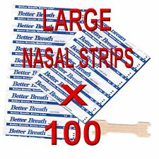 100 LARGE ANTI SNORE NASAL STRIPS, BREATH EASY FOR SPORTS , COLDS 100% DRUG FREE