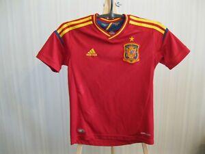 BOYS Spain team 2012/2013 home Adidas Sz S shirt jersey football soccer maillot