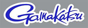 "2"" Blue Gamakatsu Quality Decal Sticker Tackle Box Fishing Boat Trailer Hooks"