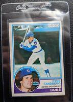 1983 O-PEE-CHEE #83 RYNE SANDBERG ROOKIE CARD RC CHICAGO CUBS HOF CLEAN MINT OC