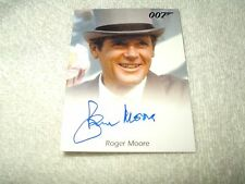 James Bond Movie Autograph Card Roger Moore as 007