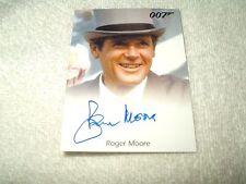 James Bond Movie Autograph Card Roger Moore as 007
