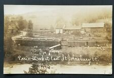 Mint Train Wreck at East Saint Johnsbury Vermont Crash Real Photograph Postcard