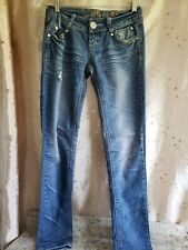 Almost Famous - Distressed Ripped Stretch Denim Skinny Jeans size 1