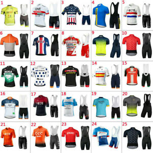 2021 NEW Team Cycling Short Sleeve Jersey And Bib Shorts Set MenS Cycling Jersey