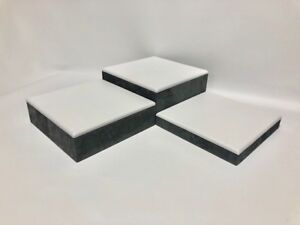 Set of 3 Square Jewellery Display Risers Blocks (Ash Grey) *Made in the UK*