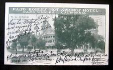 Paso Robles CA~1904 PASO ROBLES HOT SPRINGS HOTEL