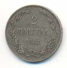 Finland under Russia Silver 2 Markkaa 1906 VF+