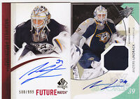 10-11 SPX Anders Lindback /799 Auto Jersey Rookie RC 2010