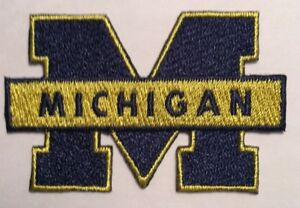 """U of Michigan patch Wolverines  iron on patch 2.5"""" wide heat seal UMich  u of m"""