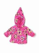 Baby Girl Hanna Andersson Pink Fleece Hooded Jacket Size 60 3-6 Months