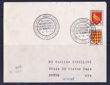 ec56/ Enveloppe   societes des artistes Francais et beaux arts Paris    1956