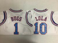 Space Jam 1 Bugs Bunny 10 Lola Bunny Tune Squad White Basketball Jersey-4dayship