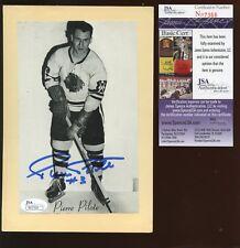 1944/1963 Beehive Hockey Autographed Pierre Pilote JSA Cert