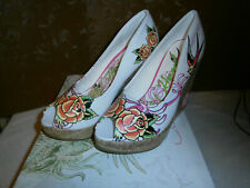 Ladies Ed Hardy Coralie Heel Shoes, NIB, size 7 M