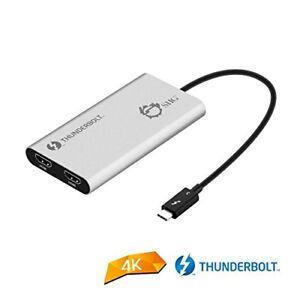 SIIG USB-C Thunderbolt V3 (USB Type C, male) to Dual HDMI 2.0 Adapter Splitter