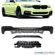 Diffusor für 5er BMW G30 G31 G36 M Performance Paket Flaps Heckansatz Schürze