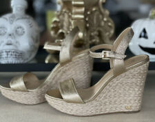 Michael Kors , Wedge Shoes  , Gold  Colour ,Size 5.5, As Good As New .