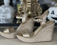 Michael Kors , Wedge Shoes  ,Gold  Colour ,Size 5.5, As Good As New .