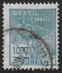 Brazil Stamp 1928-1931  1000R Industry and Culture  Used (GBX)