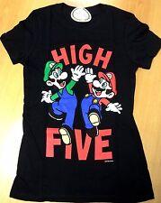 Nintendo Mario Licensed High Five Screen Printed T-Shirt - Womens Size Medium