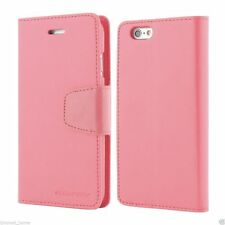 iPhone 6/6s & 6/6s Plus Genuine Goospery Pink Leather Flip Case Wallet Cover