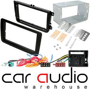 Double Din Stereo Fascia Fitting Kit fit VW GOLF MK5/MK6 PASSAT CADDY T5 T5.1
