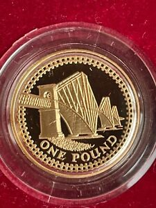 2004 Proof Gold £1 Coin Investment Just Shy 20g of Proof Gold BOXED  Royal Mint