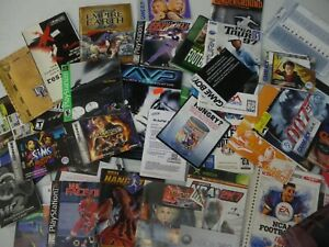 Lot of 42 various video game Nintendo, PS2, Gameboy Instruction Manual Booklets