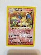 Holographic Charizard Pokemon Card (Base Set 4/102) Shadowed, Unlimited
