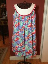 Rare Editions Girls Sz. 6x Floral Woven Scoop Neck Spring Summer Dress