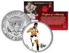 Muhammad Ali - Full Pose - JFK Kennedy Half Dollar US Coin - OFFICIALLY LICENSED