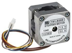 RS Pro Unipolar Hybrid Stepper Motor 1.8°, 0.10Nm, 12 V dc, 400 mA, 6 Wires