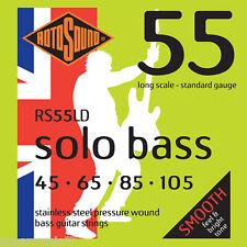 Rotosound RS55LD Solo bass cordes guitare en acier inoxydable pression blessure 45-105