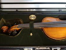 Violine/Geige Set 4/4 mit 2 x Bogen, Geigenkasten, Dämpfer, Kolophonium