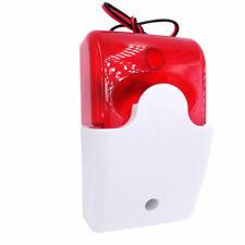 Home Security Flashing Light Alarm System Strobe Siren Warning Signal Horn