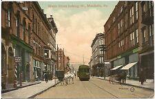 Water Street Looking West in Meadville  PA Postcard 1909