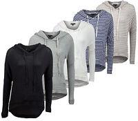 Ladies Hoody Girls Pull Over Top Womens Hoodies Sweatshirt Jacket Knit Jumper