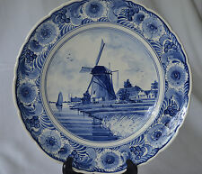 VINTAGE DELFT BLUE HANDPAINTED PLATE ESPECIALLY MADE FOR KLM