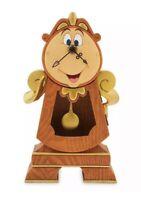 Disney Parks Beauty & The Beast Cogsworth Clock NIB